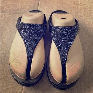 New Beaded Leather Fitflop
